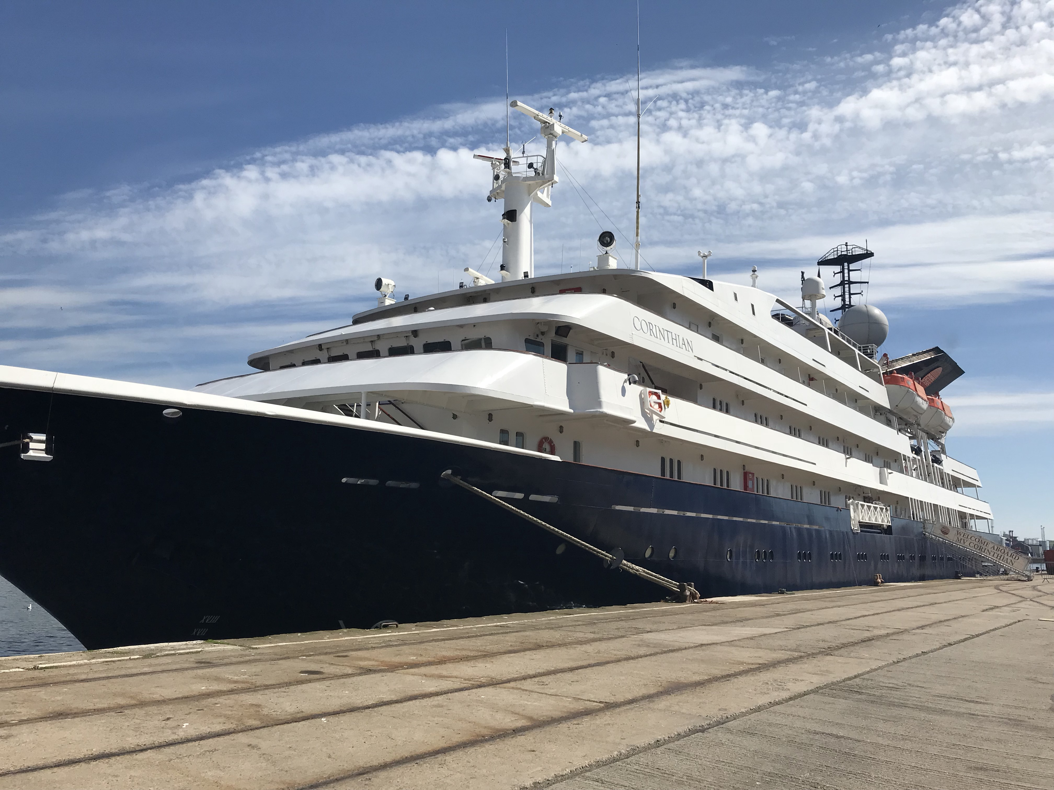 2018 cruise season opens with arrival of Corinthian