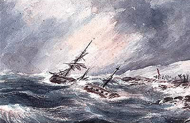 Loss of the Whaling ship 'Oscar'